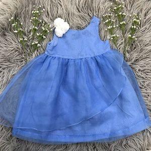 Janie and Jack formal dress in Cinderella blue